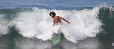 Manhattan Beach Surfing. EL PORTO, MANHATTAN BEACH, CALIFORNIA, USA - OCTOBER 1. Surfers enjoy large waves on October 1, 2012. El Porto is a popular beach with Royalty Free Stock Photos