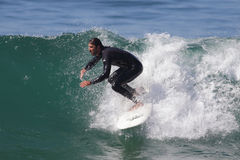 Manhattan Beach Surfing Stock Image