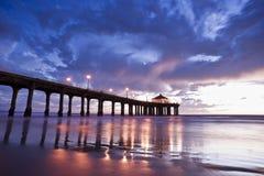 Manhattan- Beachpier Lizenzfreies Stockfoto