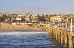 Manhattan- Beachpier, Kalifornien, USA stockbilder