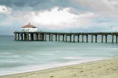 Manhattan- Beachpier-lange Berührung Lizenzfreies Stockfoto