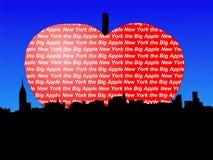 Manhattan big Apple. Midtown manhattan New York City the big Apple Royalty Free Stock Photography
