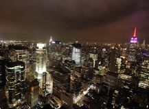 Manhattan bij Nacht royalty-vrije stock foto