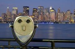 Manhattan binnoculars Stock Photo