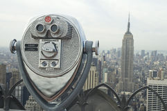Manhattan binocular Stock Image