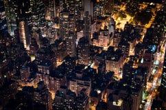 Manhattan bis zum Nacht Stockfotos