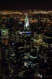 Manhattan bis zum Nacht Stockfotografie