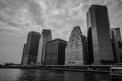 Manhattan in black and white colors Stock Images