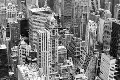 Manhattan in black and white. New York City, USA - May 20, 2014: Part of New York from above in black and white Stock Image