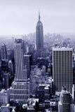 Manhattan in blauw Stock Afbeelding