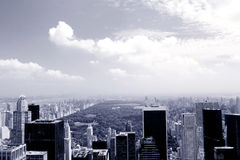 Manhattan in blue stock photography
