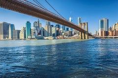Manhattan-Brücke New York lizenzfreie stockfotos