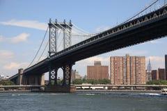 Manhattan-Brücke - New- York CitySkyline Lizenzfreies Stockbild