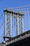 Manhattan-Brücke und Manhattan-Skyline Stockfotos