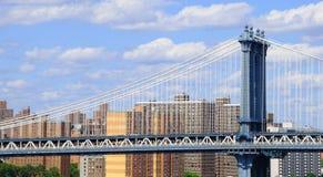 Manhattan-Brücke und unterere Ostseite Stockfoto