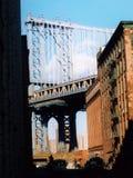 Manhattan-Brücke von Brooklyn Stockbild