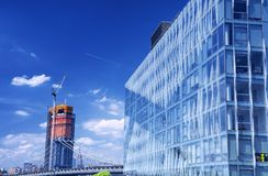 Manhattan-Brücken-New- York Cityskyline Lizenzfreies Stockbild