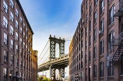 Manhattan-Brücken-Reich-Zustand stockfotografie