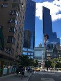 Manhattan brengt Torens samen Stock Afbeelding