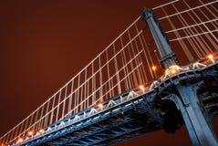 manhattan bridżowe godzina zdjęcia royalty free