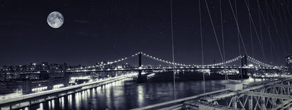 Manhattan bridge Stock Images
