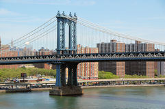 Manhattan Bridge. Famous New York City Bridge Stock Images