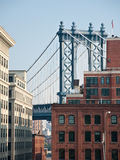 Manhattan Bridge. A shot of manhattan bridge Stock Photography