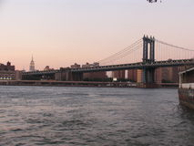 Manhattan bridge. In NYC at sunrise Royalty Free Stock Photography
