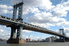 Manhattan bridge. In new york city Stock Images