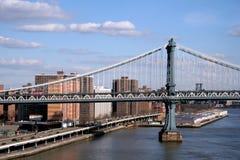 Manhattan Bridge. View of Manhattan Bridge over East River Royalty Free Stock Photography
