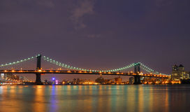 Manhattan Bridge. The Manhattan Bridge spanning the East River in New York City Royalty Free Stock Image