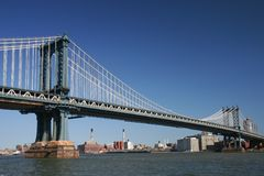 Manhattan Bridge. In New York City Stock Photo