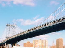 Manhattan bridge. Viewed from Brooklyn Royalty Free Stock Images