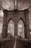 Manhattan bridge. Sepia monochrome detail Royalty Free Stock Images