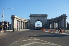 Manhattan Bridge Arch and Colonnade Royalty Free Stock Photo