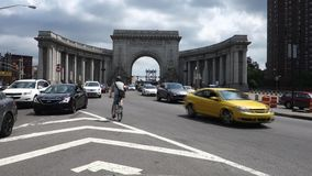 Manhattan Bridge Arch and Colonnade Royalty Free Stock Photo