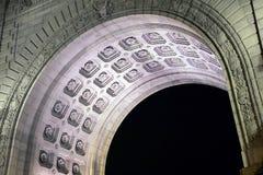 Manhattan Bridge Arch at night. Royalty Free Stock Photos