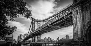 Manhattan Bridge In Black And White Stock Photos