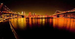 Manhattan Bridge and Brooklyn Bridge Royalty Free Stock Image