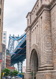 The Manhattan Bridge from Brooklyn  district, NYC Stock Photography