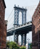 Manhattan Bridge in the summer. royalty free stock photo