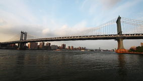Manhattan Bridge carries traffic from Manhattan to Brooklyn stock footage