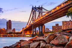 Manhattan Bridge Cityscape Royalty Free Stock Images