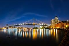 Manhattan Bridge at dawn Stock Images