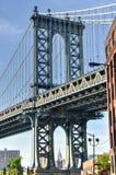Manhattan Bridge from DUMBO, Brooklyn Royalty Free Stock Photos