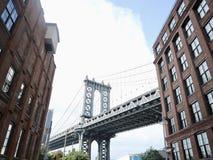Manhattan Bridge from Dumbo, NY stock photos