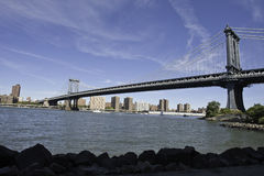 Manhattan Bridge from DUMBO Royalty Free Stock Photos