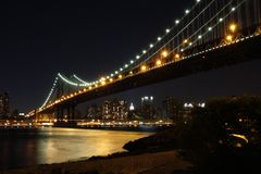 Manhattan Bridge at dusk Royalty Free Stock Image