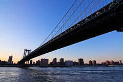Manhattan Bridge at dusk Stock Photos
