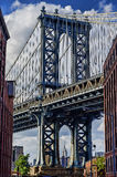 Manhattan Bridge and Empire State Building at DUMBO Royalty Free Stock Photos